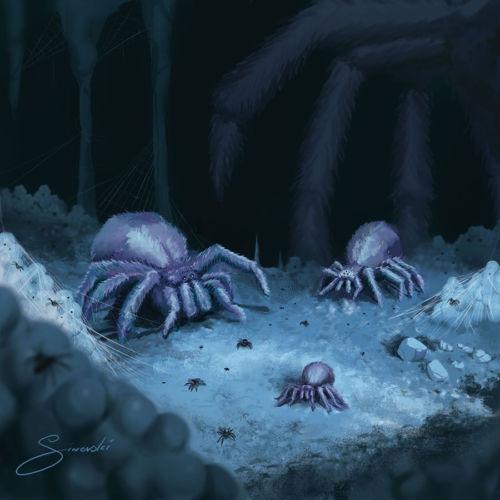 Illustration of Aragog's Childrens for Harry Potter Trading Card Game