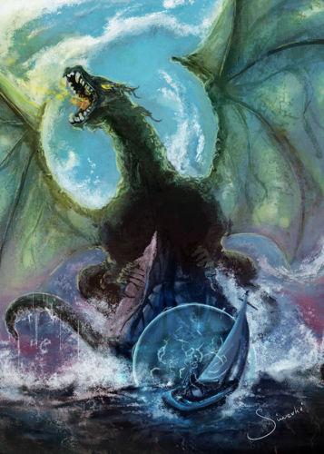Illustration of a sea dragon