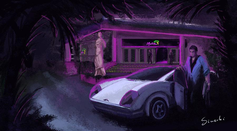 Tommy Vercetti near Malibu Club - GTA fanart