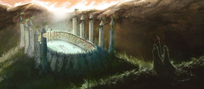 Quidditch Pitch - Harry Potter fanart