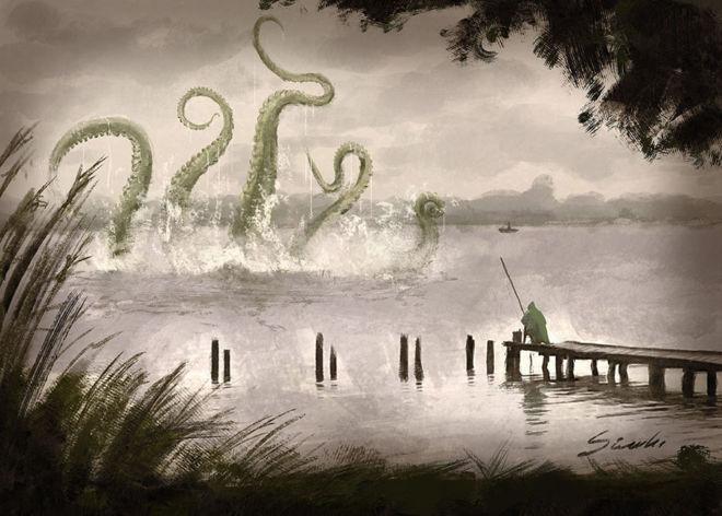 Illustration of a Monster from Masuria Lake