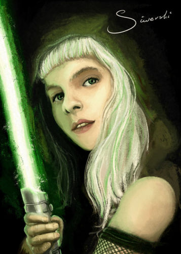 Portrait of Aurora Aksnes as a Jedi