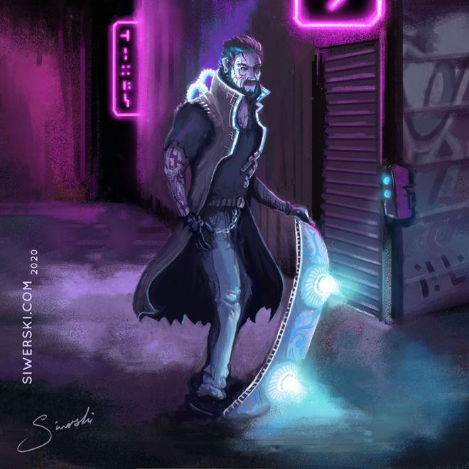 Skater cyberpunk concepta art