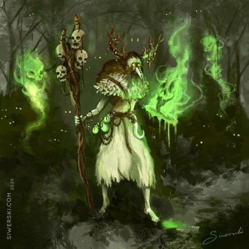 Concept Illustration of Soul Stitcher - forest shaman